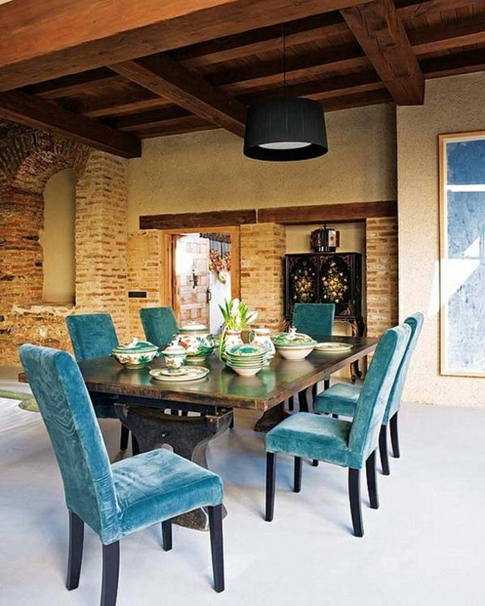 ideen gartengestaltung gartentisch garten gartenmöbel elegante gartenstühle blau essbereich