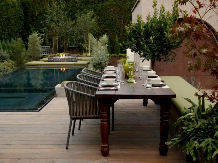 Elegant Ideen Gartengestaltung Tisch Massiv Gartenstühle Sitzbank