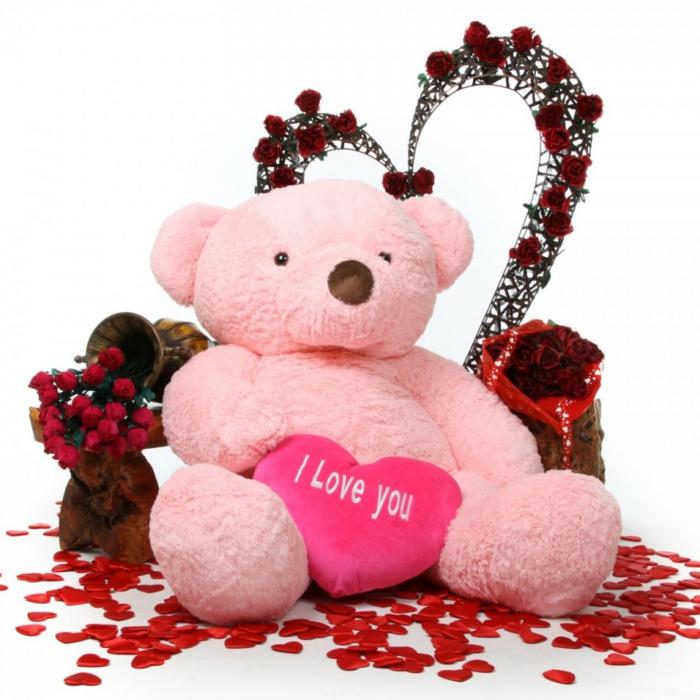geschenk zum valentinstag auswählen souvenirs teddy botschaft