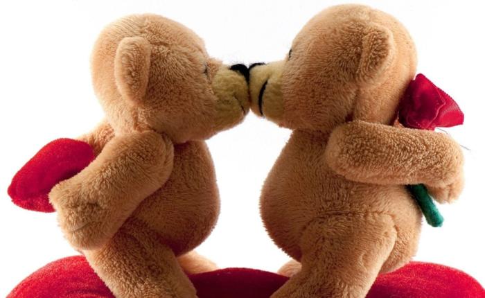 geschenke zum valentinstag teddys rose herz