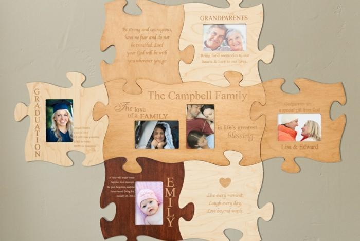geschenkideen freund geschenk bester freund stammbaum puzzle großeltern