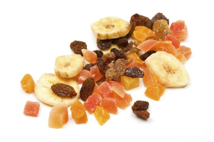 schnelles gesundes essen trockene früchte essen zwischenmahlzeiten