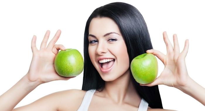 haarpflege tipps winter haarpflegemittel äpfel vitamine mineralien