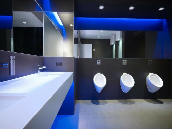indirektes Licht ikea beleuchtung decke dunkeles interior öffentliche toilette
