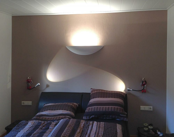 led indirekte beleuchtung decke dunkeles interior leuchte wandbeleuchtung schlafzimmer