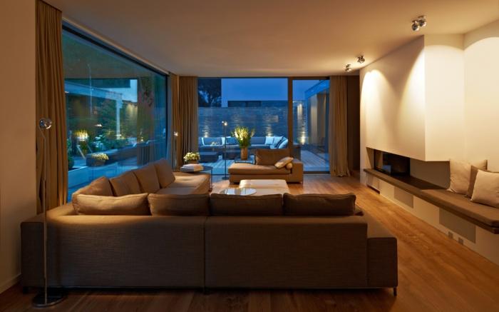 beleuchtung decke dunkeles interior leuchte wandbeleuchtung wohnzimmer