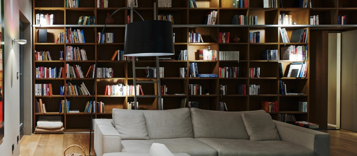 ikea beleuchtung decke dunkeles interior wandgestaltung bibliothek