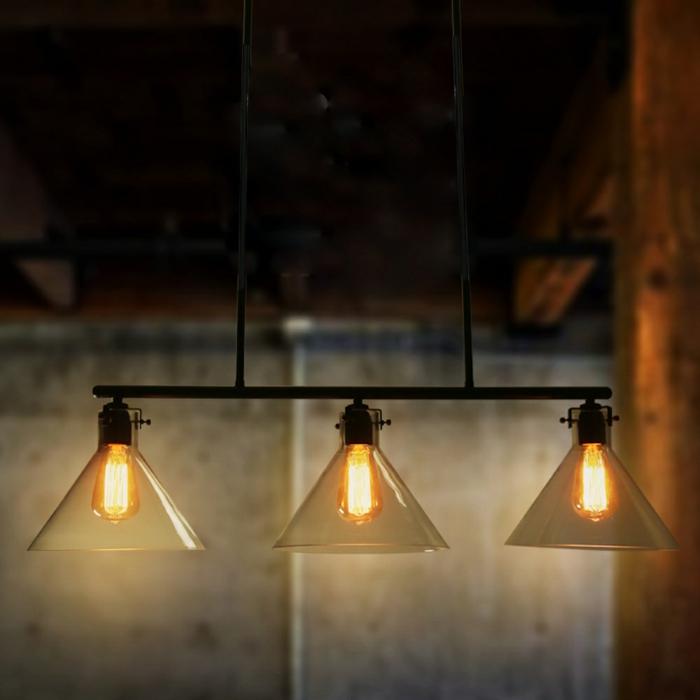 ikeabeleuchtung decke dunkeles interior wandgestaltung dreier