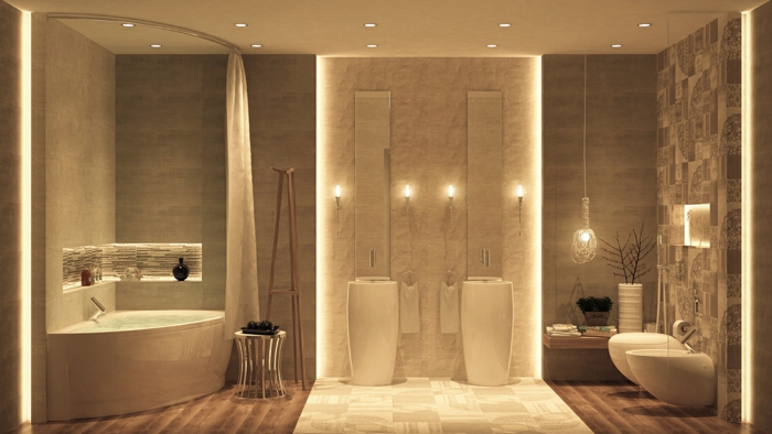 indirektes Licht ikea beleuchtung decke dunkeles interior wandgestaltung oriental cool