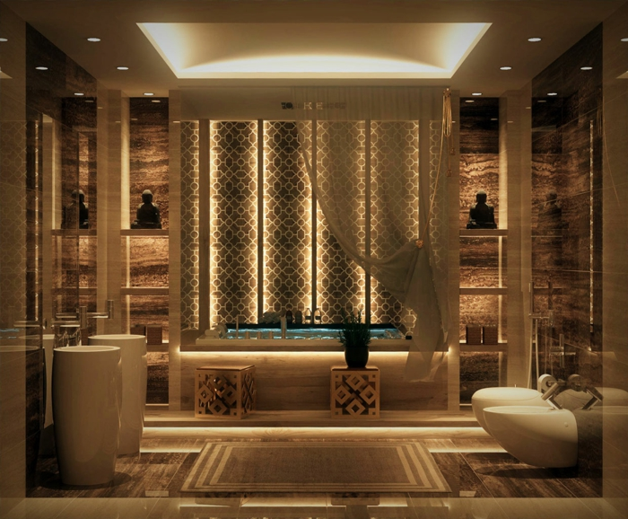 indirektes Licht ikea beleuchtung decke dunkeles interior wandgestaltung oriental