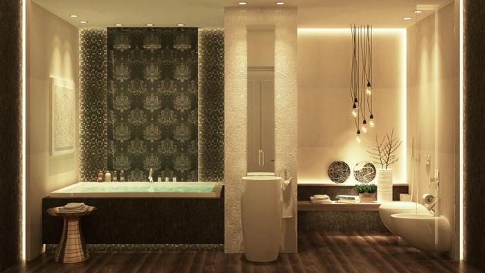 indirektes Licht ikea beleuchtung decke dunkeles interior wandgestaltung ornamente