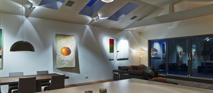ikea beleuchtung decke dunkeles interior wandgestaltung pro