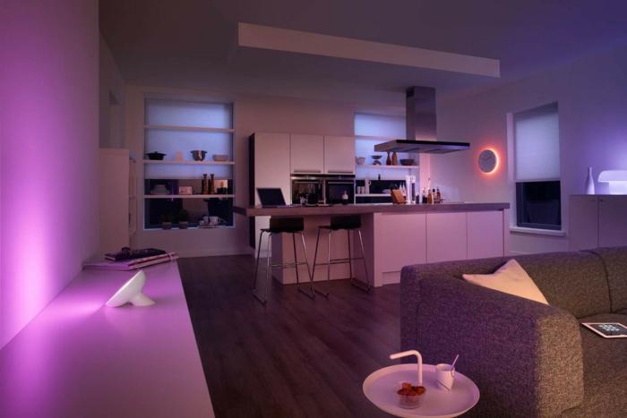 indirektes Licht ikea beleuchtung decke dunkeles interior wandgestaltung rosa