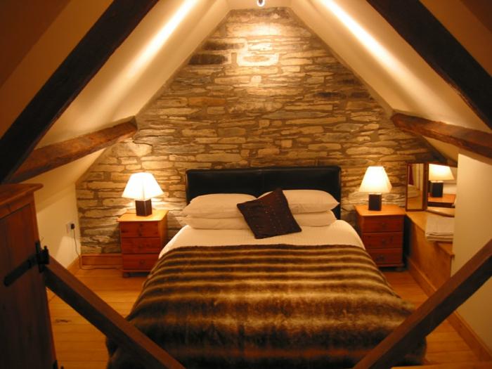 ikea beleuchtung decke dunkeles interior wandgestaltung schlafzimmer