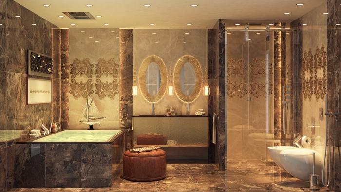 indirektes Licht ikea beleuchtung decke dunkeles interior wandgestaltung spiegel gestaltung