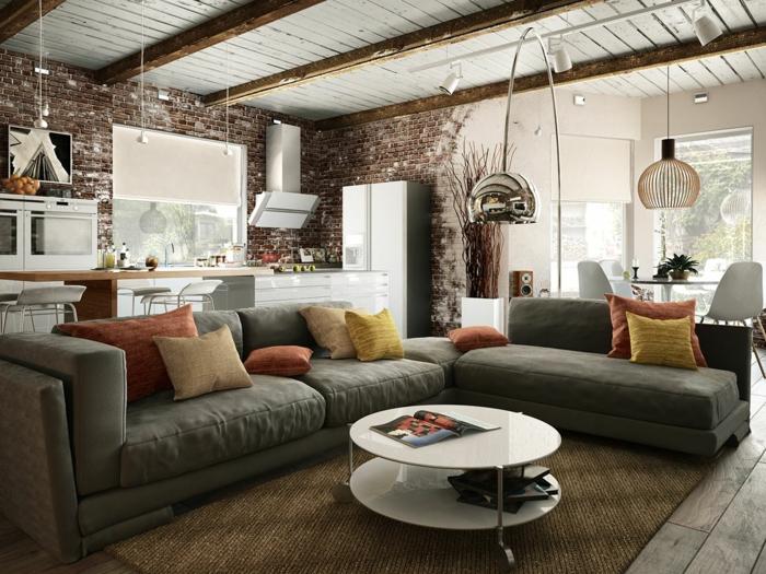 indirektes Licht ikea beleuchtung decke dunkeles interior wandgestaltung wohnküche
