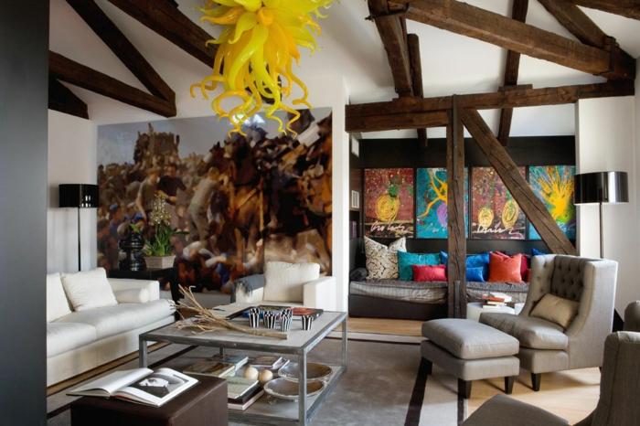 einrichtungsbeispiele raumgestaltung inneneinrichtung ideen inneneinrichter wohnideen eklektizismus einrichtung ideen wohnzimmer ideen dachboden