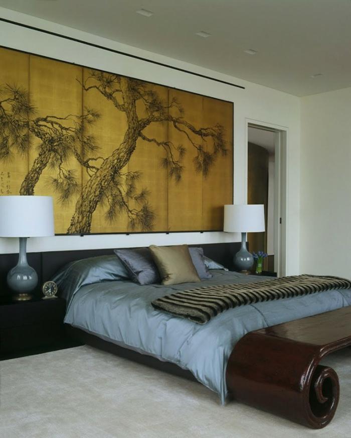 einrichtungsbeispiele raumgestaltung inneneinrichter wohnideen japanische einrichtung ideen schlafzimmer pflanzen