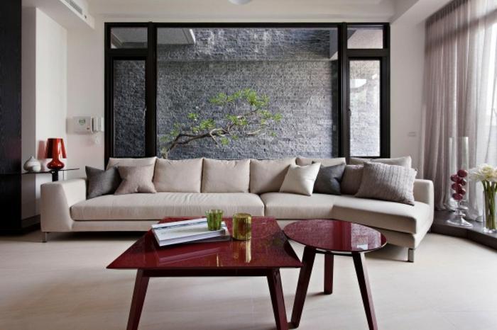 einrichtungsbeispiele raumgestaltung inneneinrichter wohnideen japanische einrichtung ideen wohnzimmer dekorativer garten