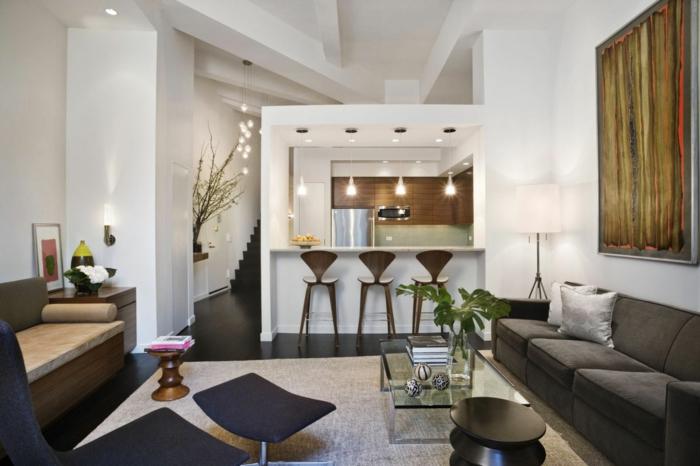 einrichtungsbeispiele raumgestaltung inneneinrichtung ideen inneneinrichter wohnideen loft stil backstein rigips
