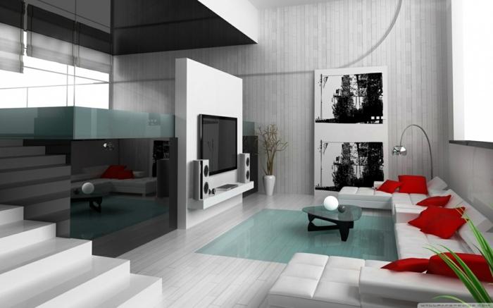 inneneinrichtung ideen inneneinrichter wohnideen loft stil bauhaus schwarz rot weiss