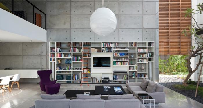 einrichtungsbeispiele raumgestaltung inneneinrichtung ideen inneneinrichter wohnideen loft stil betonplatten bauhaus mix