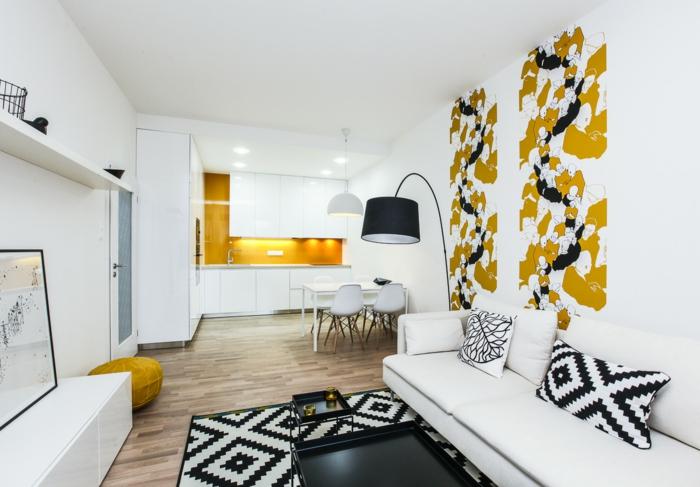 einrichtungsbeispiele raumgestaltung inneneinrichter wohnideen skandinavischer einrichtung ideen wohnzimmer orange