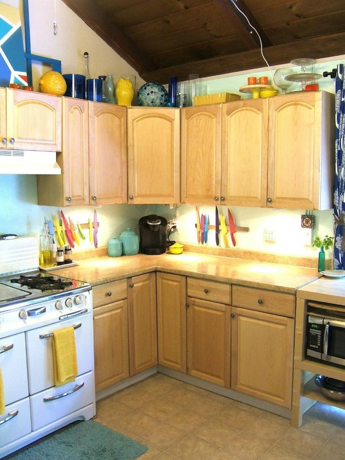 küchendesign kleine küche einrichten beleuchtung wohnideen küche