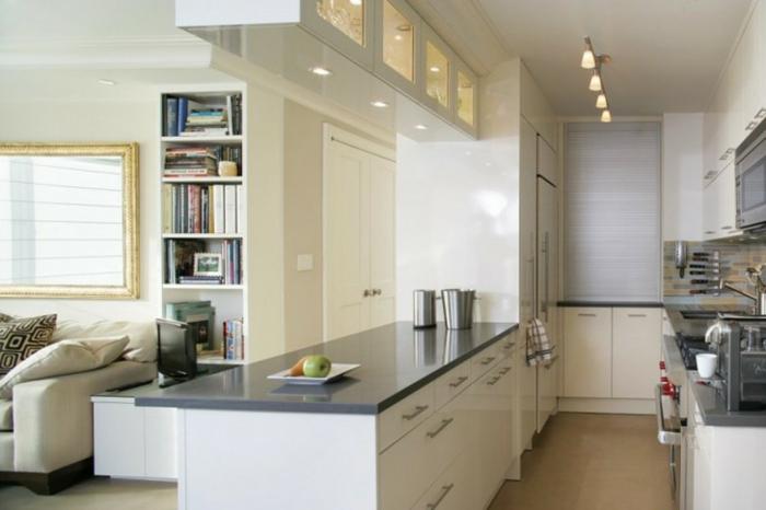 küchendesign kleine küche offener wohnpaln