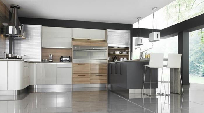 küchendesign küchen wandpaneele holztextur neutrale farben