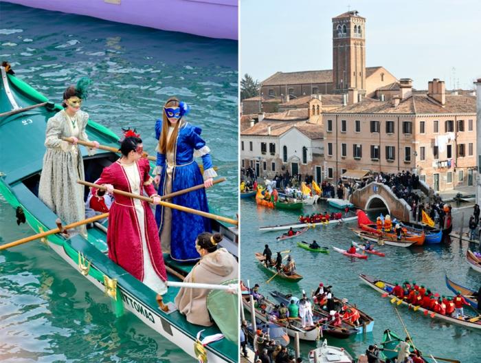 karneval in venedig faschingskostüm karnevalkostüme rosenmontag boote brücke kanäle