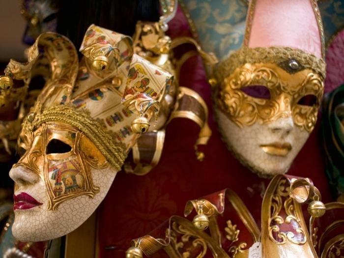 karneval in venedig kostüme fasching clowns