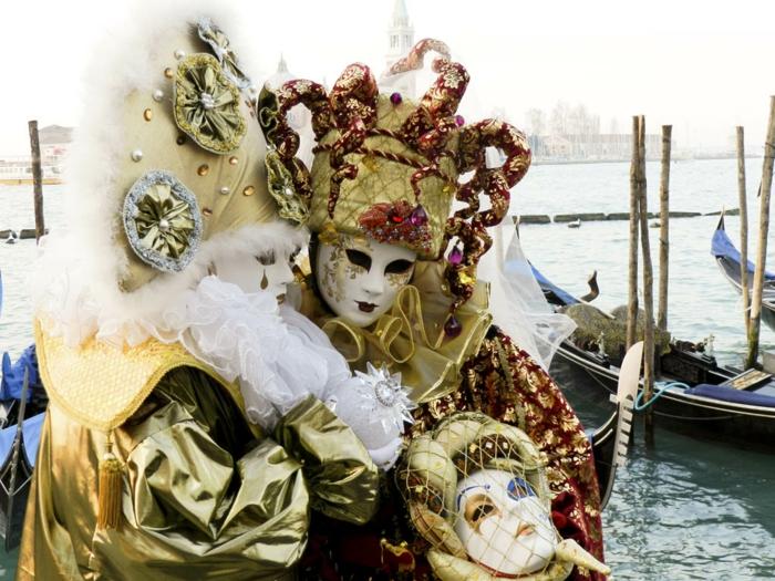 karneval in venedig kostüme fasching reisen feiern goldene masken