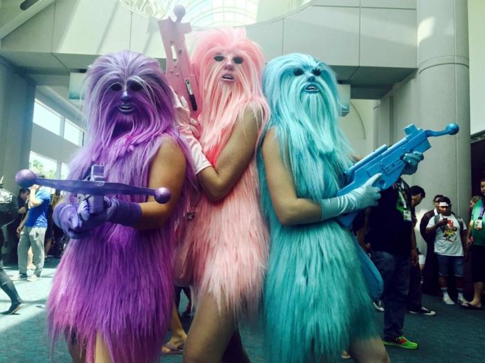 karnevalskostüme diy ideen bunt star wars charaktere