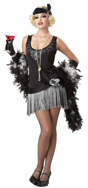 karnevalskostüme diy ideen frauenkostüm zwanziger jahre mode