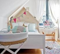29 Kinderzimmer mit Dachschräge – tolle Ideen und Inspirationen für Sie