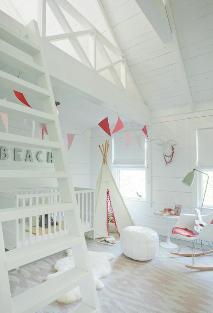 Kinderzimmer mit dachschr ge 29 tolle inspirationen f r sie - Indianerzelt kinderzimmer ...