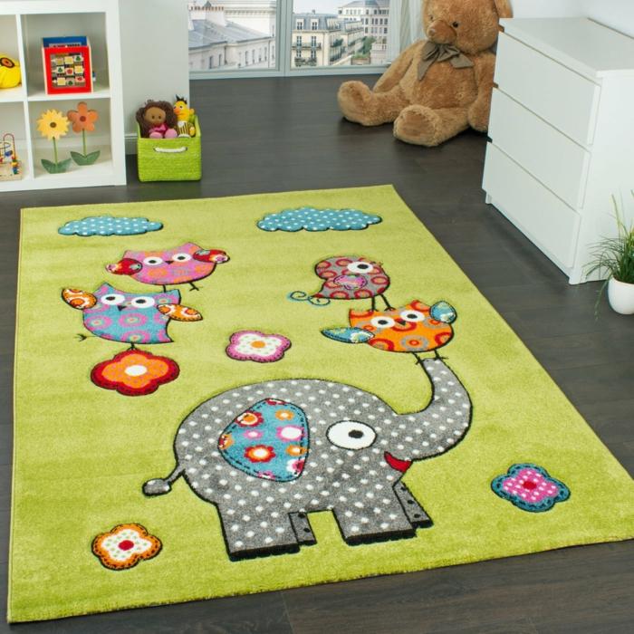 kinderzimmerteppich kinderteppich elefant paco home amazon