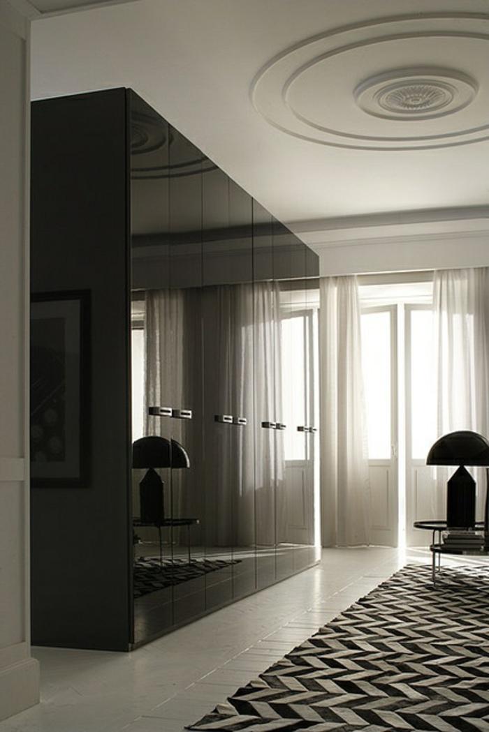 kleiderschrank schwarz stilvoll wohnideen schlafzimmer