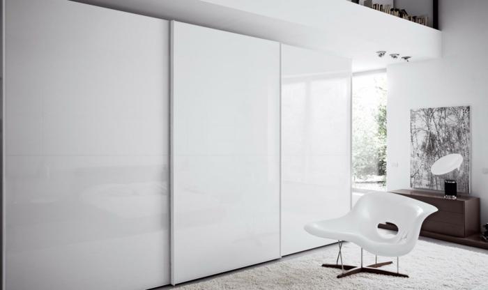 kleiderschrank weiß massiv hoch schlafzimmer einrichten