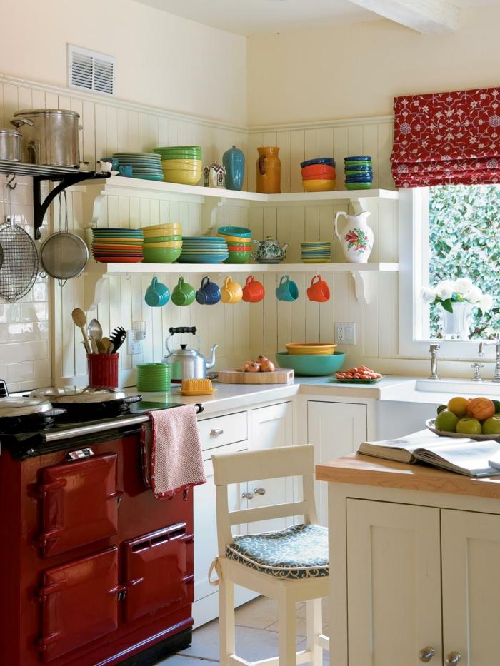 kleine küchen einrichten funktionelle ideen geschirr küchenfenster