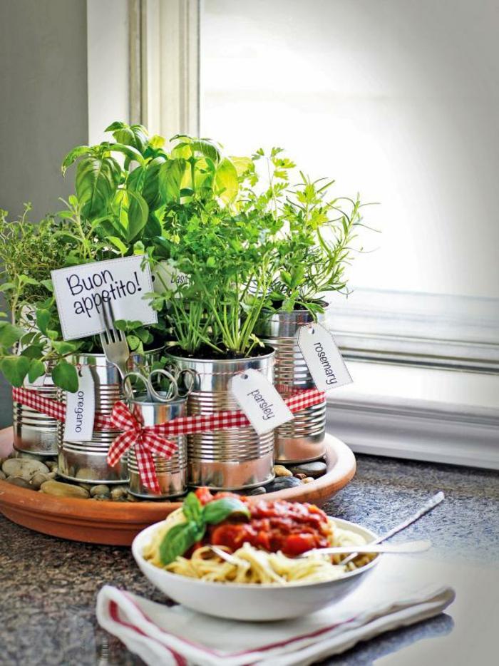 kräutergarten anlegen diy ideen anleitung küchenkräuter gewürze blechdosen hgtv