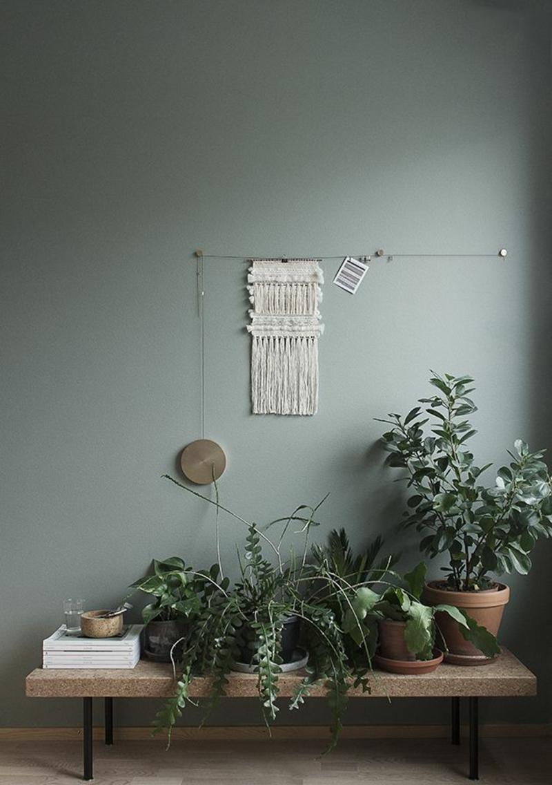 kreative Wanddeko Ideen Flur Zimmerpflanzen Flurmöbel