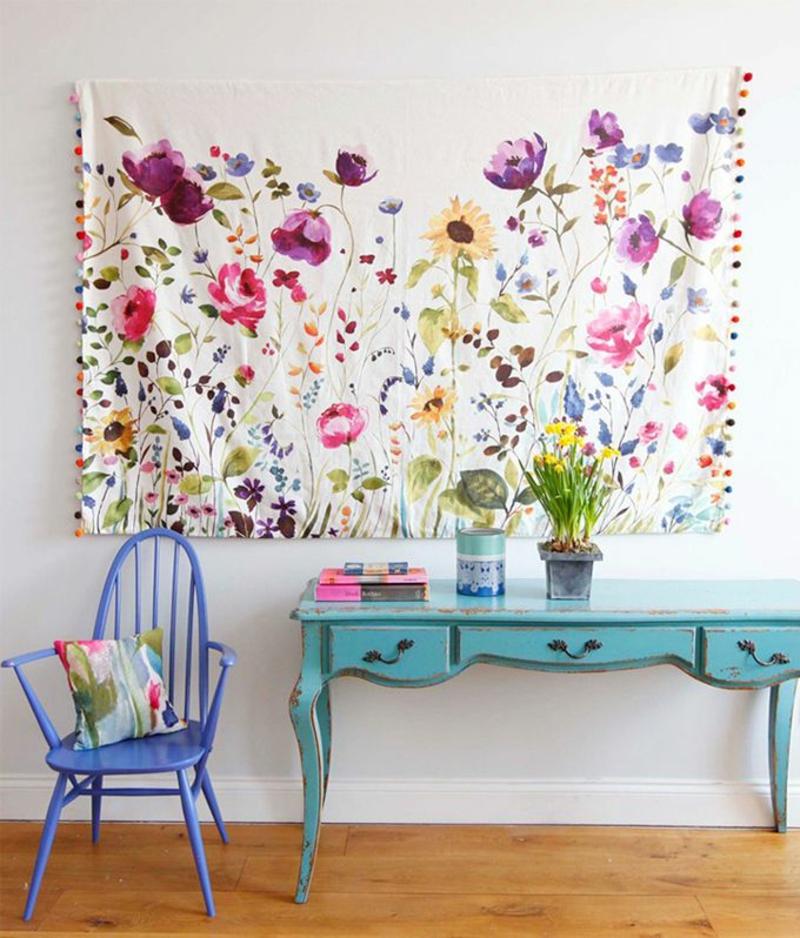 kreative- Wanddeko Ideen Wandteppich Flur Kommode Flurmöbel