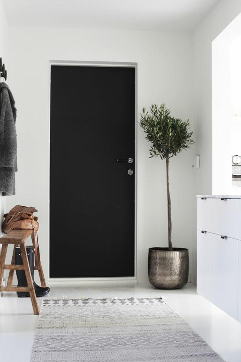 Kreative Wandgestaltung Flur Deko Zimmerpflanzen