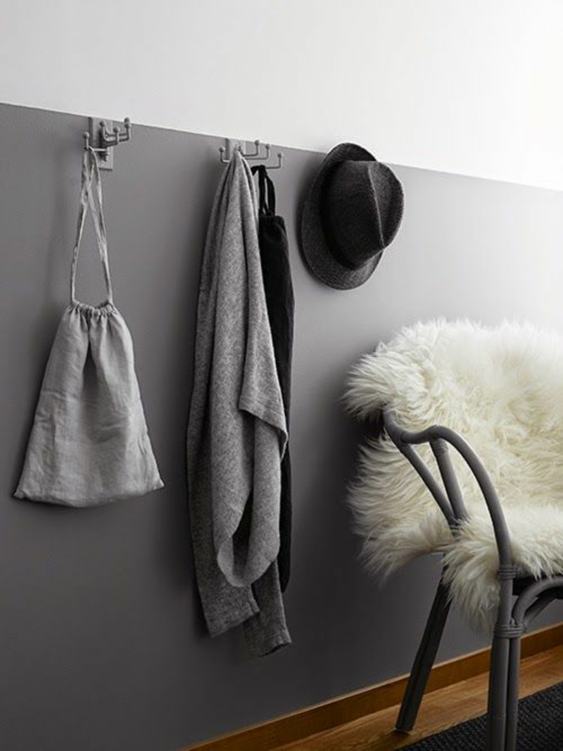 Kreative Wandgestaltung Flur Flurmöbel Garderobenhacken