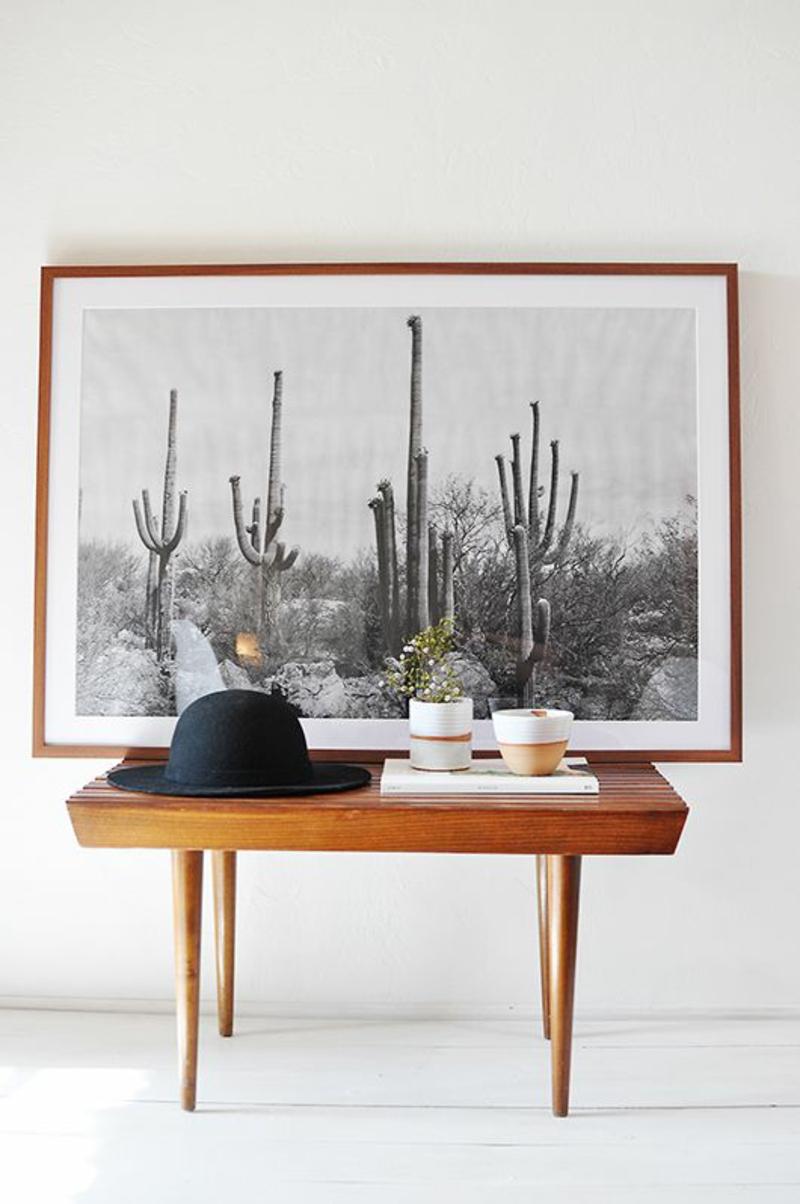 kreative Wandgestaltung Flur Flurmöbel Holt Wandgemälde schwarz weiß