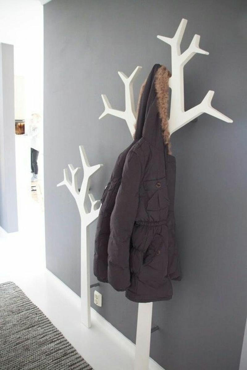 kreative Wandgestaltung Flur Wand Flurmöbel