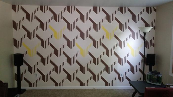 Wandgestaltung Wei Braun ~ Verschiedenes Interessantes Design Für,  Wohnzimmer Design