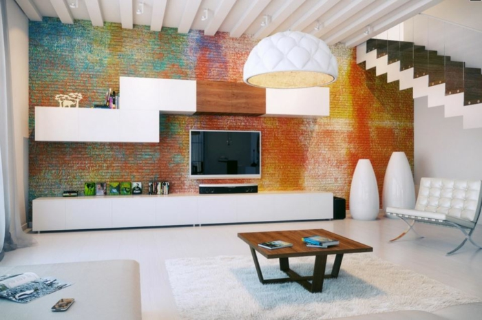 Attraktiv 77 Farbenfrohe Wandmuster Für Die Kreative Wandgestaltung ...